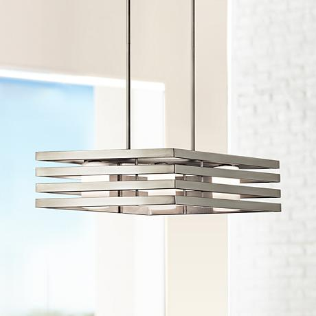 "Kichler Realta 28"" Wide Brushed Nickel Linear Chandelier"