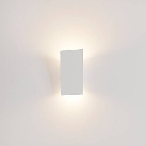 "Sonneman Angled Plane 8""H Textured White LED Wall Sconce"