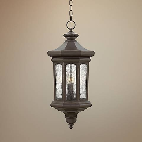 "Hinkley Raley 11 3/4""H Bronze Outdoor Hanging Lantern"
