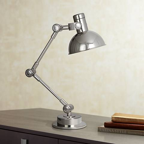 Robert Abbey Scout Polished Nickel Desk Lamp