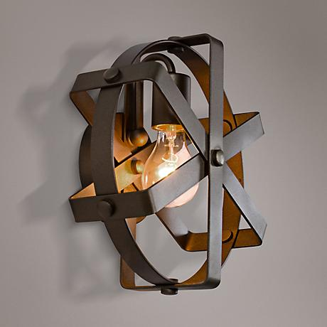 "Varaluz Reel 10 3/4"" High Rustic Bronze Wall Sconce"