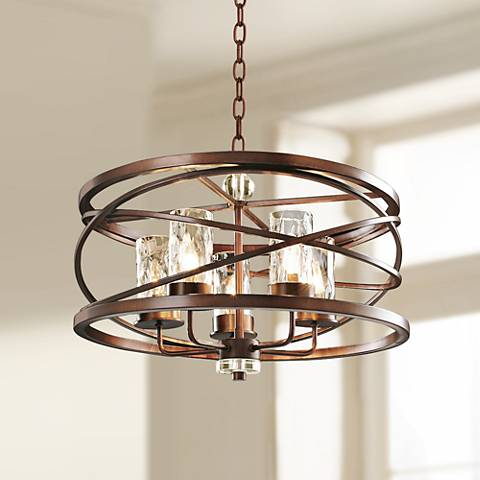 "Eternity Etruscan Bronze 24"" Wide 5-Light Chandelier"