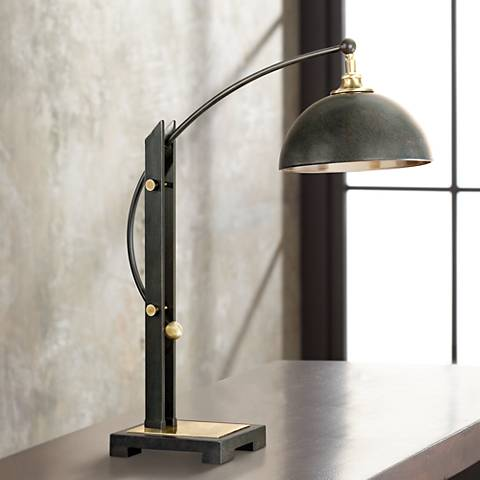 Uttermost Malcolm Dark Oil Rubbed Bronze Metal Desk Lamp