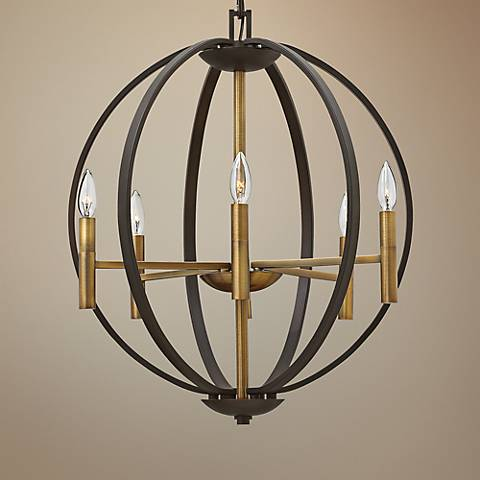 "Hinkley Euclid 22 1/4"" Wide Spanish Bronze 6-Light Pendant"