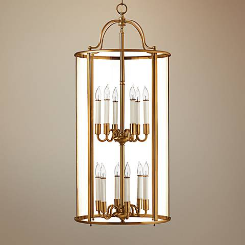 "Hinkley Gentry 17"" Wide Heirloom Brass 12-Light Pendant"