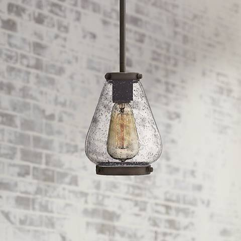 "Hinkley Finley 6"" Wide Oil-Rubbed Bronze Mini Pendant"