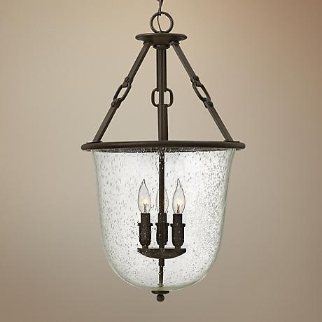 "Hinkley Dakota 15 3/4""W Oil-Rubbed Bronze 3-Light Lantern"