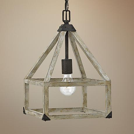"Fredrick Ramond Emilie 10"" Wide Iron Rust Mini Pendant"