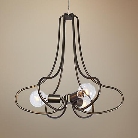 "Varaluz The Whole Package 20"" Wide New Bronze Chandelier"