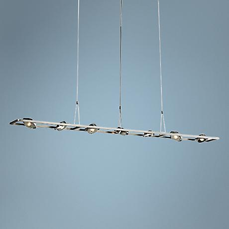 "LBL Calix 49 1/2""W LED Spot Satin Nickel Island Pendant"