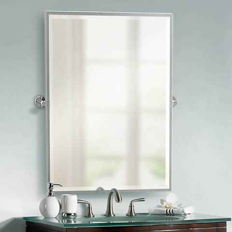 "Gatco Channel Chrome 27 3/4"" x 32 1/2"" Wall Mirror"