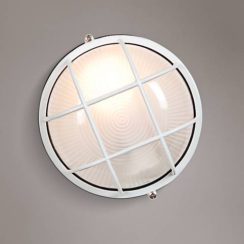"Nauticus 7"" High White Outdoor Wall Light"