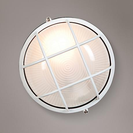 "Nauticus 9 1/2"" High White Outdoor Wall Light"