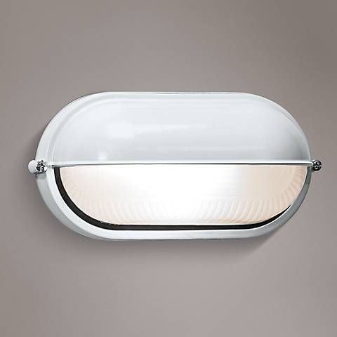 "Nauticus 4 1/4"" High White Outdoor Bulkhead Wall Light"