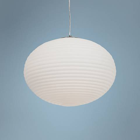 "Callisto 18"" Wide Brushed SteelPendant Light"