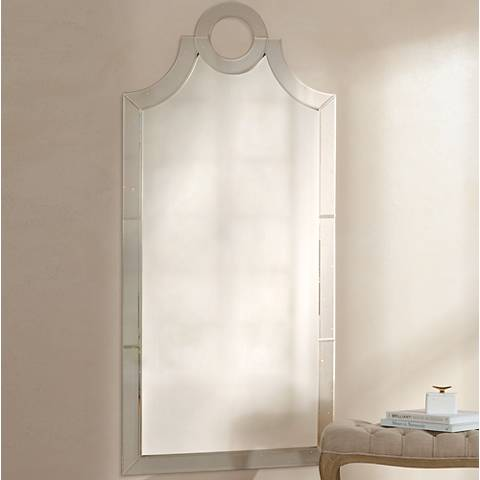 "Uttermost Acacius Antiqued Glass 30""x66"" Wall Mirror"