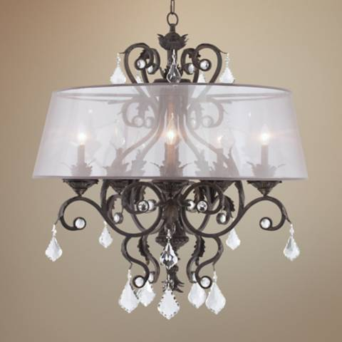 Kathy Ireland Ramas De Luces 34 Quot W Bronze Shaded Chandelier