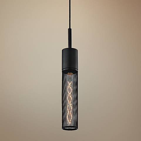 "Sonneman Gotham 2 3/4"" Wide Textured Black Mini Pendant"