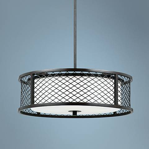 "Dublin Bronze 4-Light 20"" Wide Cage Pendant"