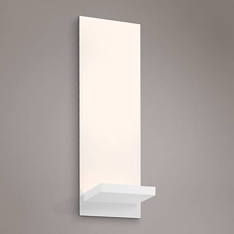 "Sonneman Panel Bracket 13 3/4""H Textured White LED Sconce"