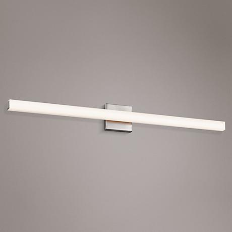 "Sonneman Sq-Bar 40"" Wide Satin Nickel LED Bath Light"