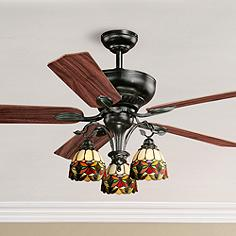 52 Vaxcel French Country Oil Shale Ceiling Fan