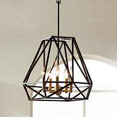 Hawking 5 Light 20 Wide Bronze Pendant Chandelier