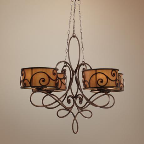 Windsor Collection Stained Mica 20-Light Chandelier