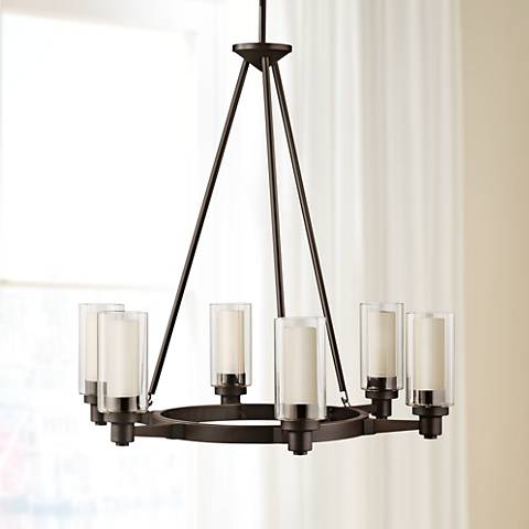 "Circolo Collection Olde Bronze 26"" Wide Chandelier"