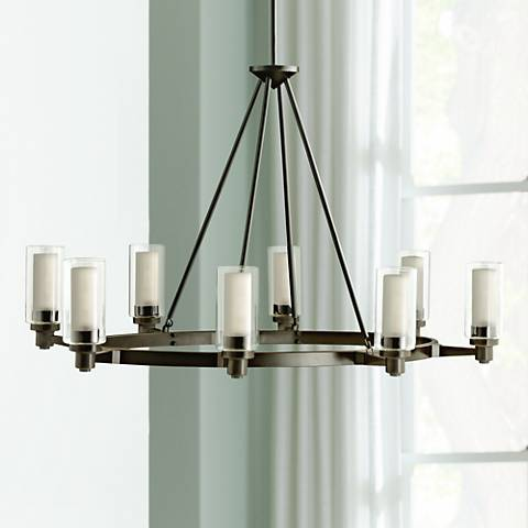 "Circolo Collection Olde Bronze 35 1/2"" Wide Oval Chandelier"