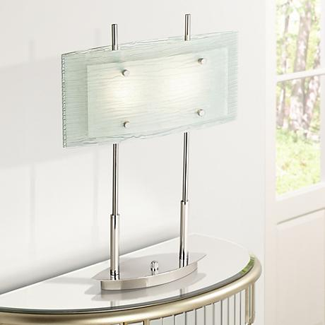 Possini Euro Charles Street Tiered Slumped Glass Desk Lamp