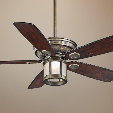 "60"" Casablanca Heritage Ceiling Outdoor Fan with Light Kit"