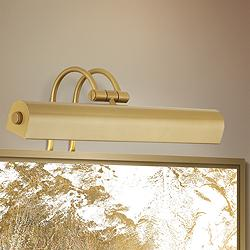 "Light Gold 16"" Wide Plug-In Picture Light"