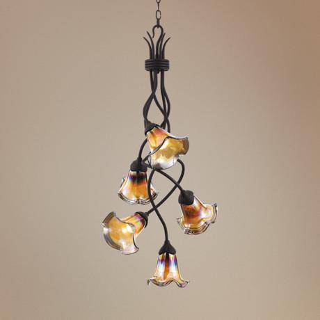 Vantaggio Collection Five Downlight Pendant Chandelier