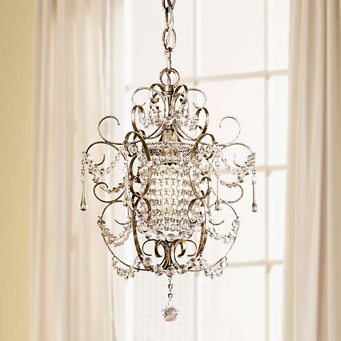 "Minka Lavery French Silver 11"" Wide Mini Chandelier"
