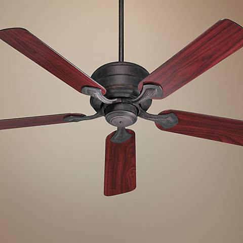 "52"" Quorum Hanover Toasted Sienna Ceiling Fan"