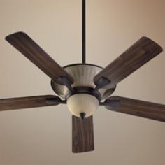 "52"" Quorum Clayton Toasted Sienna Ceiling Fan"