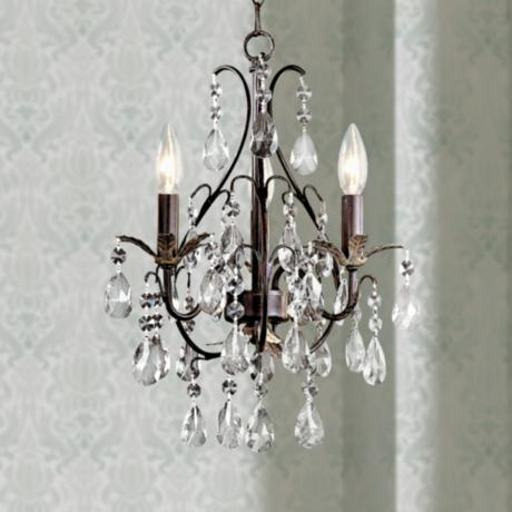Mini crystal chandeliers for bathroom quotes for Small chandeliers for bathrooms