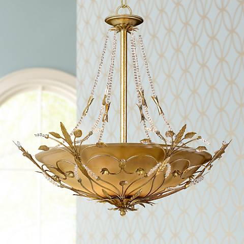 Parisian Collection Six Light Crystal Pendant Chandelier
