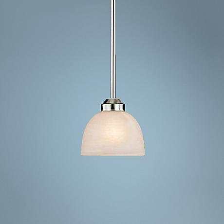 "Paradox Brushed Nickel 6 1/2"" Wide Single Mini Pendant Light"