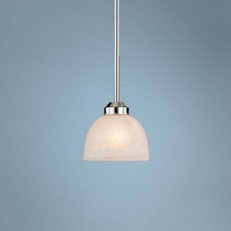 Paradox Brushed Nickel Energy Efficient  Single Pendant Light