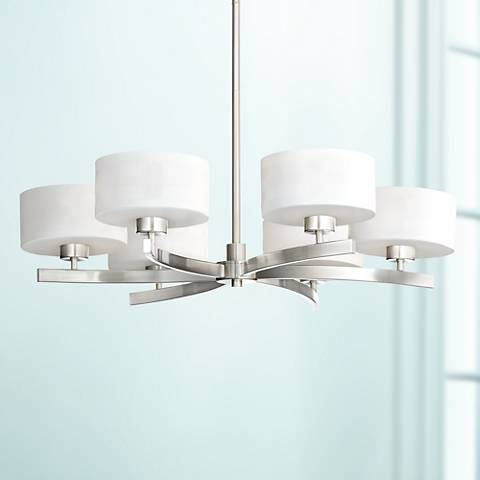 "Possini Euro Surface Interplay White 32"" W Chandelier"