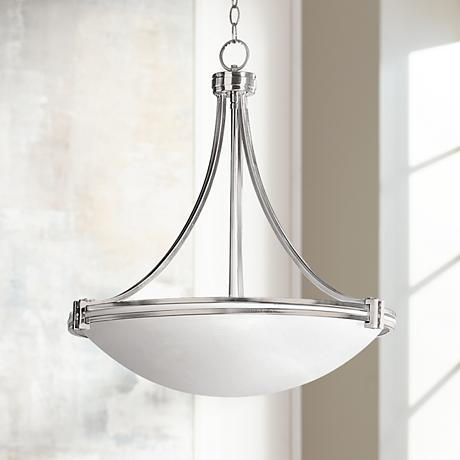 "Possini Euro Design Deco Nickel 24 3/4"" Wide Pendant Light"