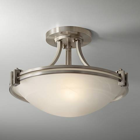 Possini Euro Design Nickel 16 Quot Wide Ceiling Light Fixture