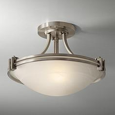 Close To Ceiling Lights: Possini Euro Design Nickel 16
