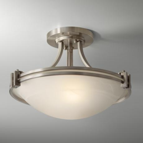 "Possini Euro Design Nickel 17"" Wide Ceiling Light Fixture"