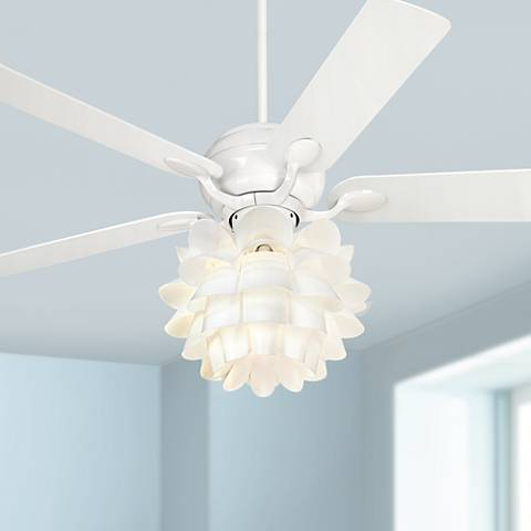 "52"" Casa Optima™ Flower Light Kit White Ceiling Fan"