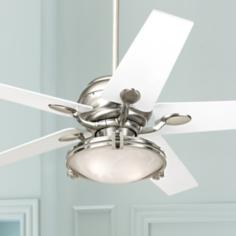 "52"" Casa Optima™ Tapered White Blade Ceiling Fan"