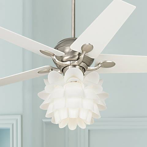 "52"" Casa Optima™ White Flower Ceiling Fan"