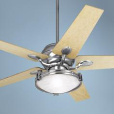 "52"" Casa Vieja Casa Optima Tapered Maple Blades Ceiling Fan"